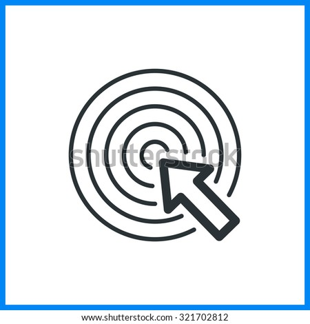 vector illustration of click cursor icon. line flat - stock vector