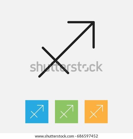 Vector Illustration Climate Symbol On Sagittarius Stock Vector