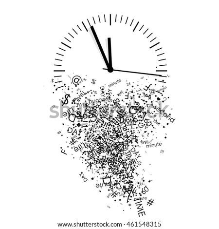 vector illustration clock stock vector royalty free 461548315