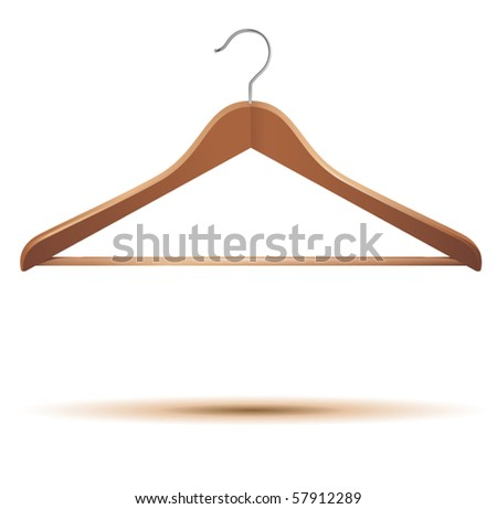 vector illustration of clothes hanger - stock vector
