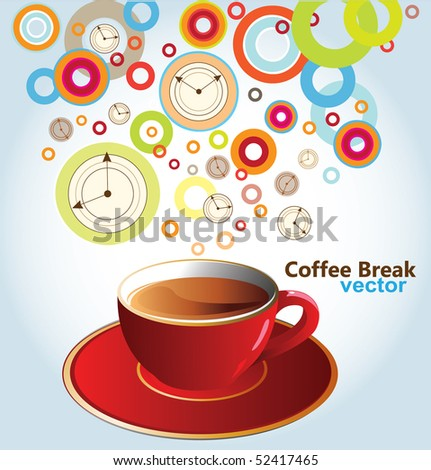 Vector illustration of coffee pause - stock vector