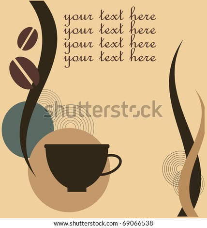 Vector illustration of coffee symbol in eps format - stock vector