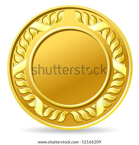 vector illustration of coin - stock vector