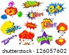 vector illustration of collection of comic book explosion - stock vector
