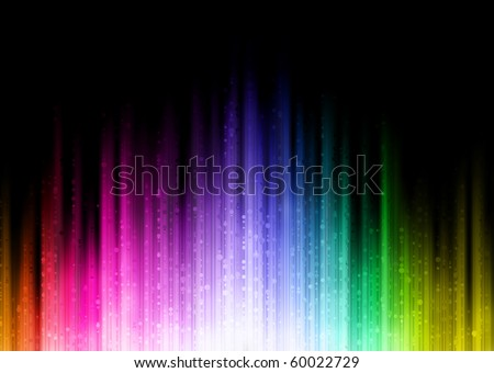 Vector illustration of color abstract background with blurred magic neon light lines - stock vector