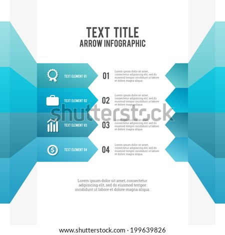 Vector illustration of color arrow infographic elements. - stock vector