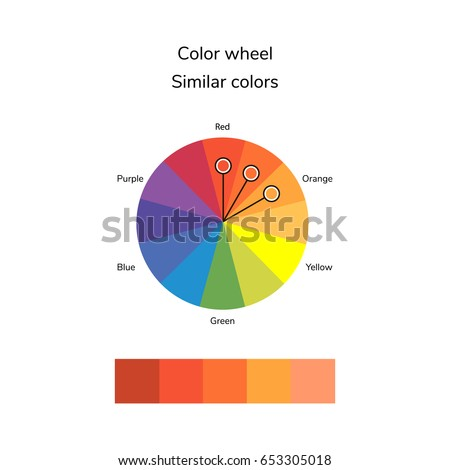 Vector Illustration Color Circle Analogous Stock 653305018