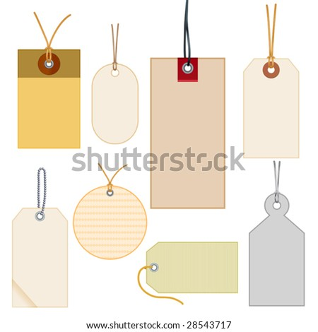vector illustration of  colored labels