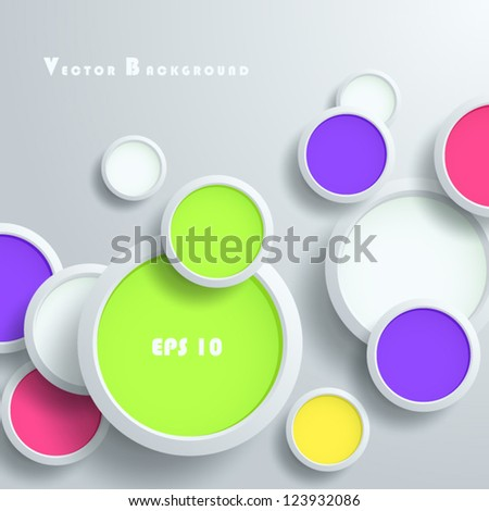 vector illustration of colored pads - abstract background easy to move and edit objects