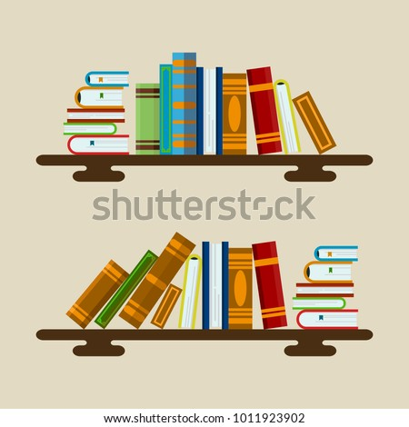 Vector illustration of colorful books. Great image for educational sphere, science, project for school, library, university ect.