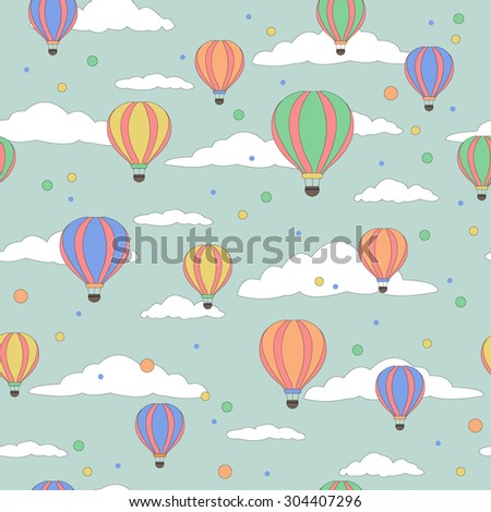 Vector illustration of colorful hot air balloons - stock vector
