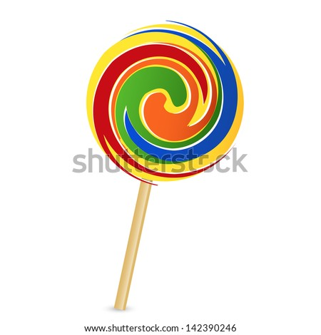 Vector illustration of colorful lollipop