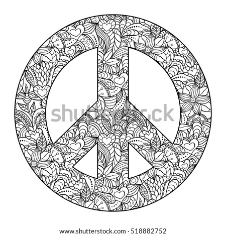 Kiyanochka1 39 s portfolio on shutterstock for Peace sign mandala coloring pages