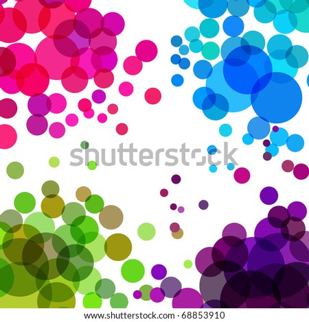Vector - Illustration of colorful retro circles or bubbles with space for text - stock vector