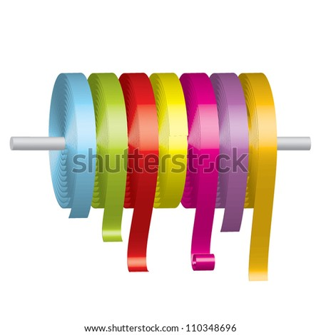 Vector illustration of colorful ribbons - stock vector