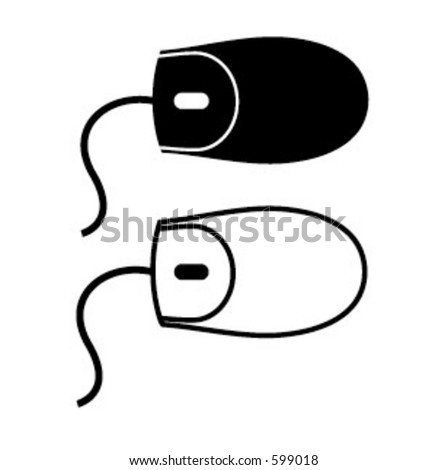 vector illustration of computer mouse part of a series - see my portfolio for others - stock vector