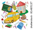 Vector illustration of cool Back to school background - stock vector