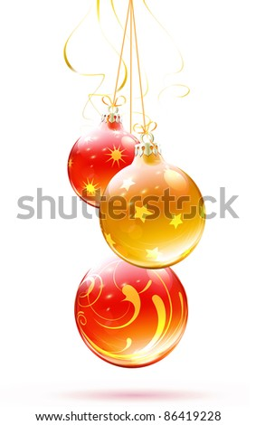 Vector illustration of cool Christmas decorations - stock vector
