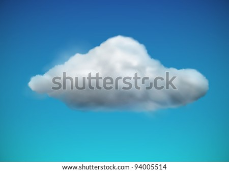 Vector illustration of cool single weather icon -  cloud floats in the sky