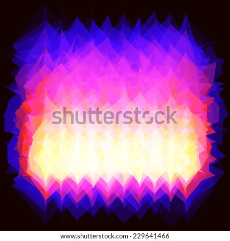 Vector illustration of corner fire (gas)  spurts of flame burning. backdrop - stock vector