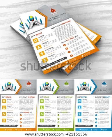 Vector illustration of corporate flyer template.