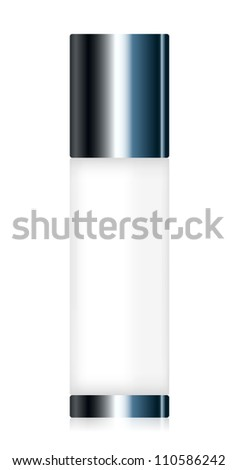 Vector illustration of cosmetic container - stock vector