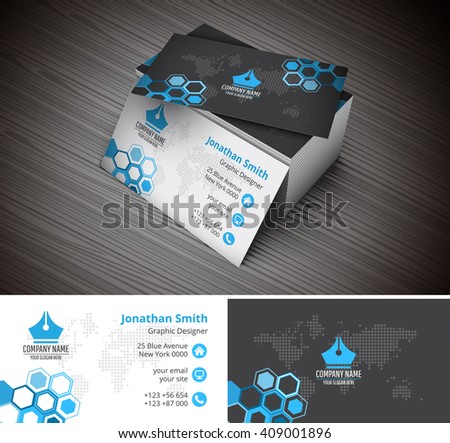 Vector Illustration Of Creative Business Card