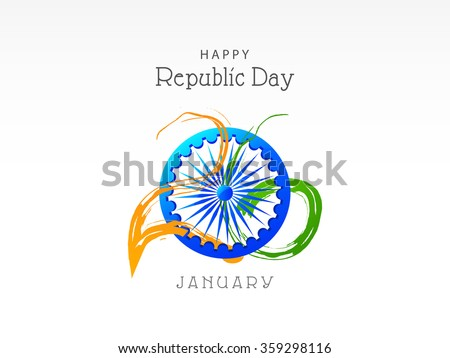 Vector Illustration of Creative colourful background with Indian flag design for Indian Republic day. - stock vector