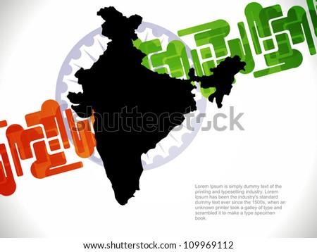 Vector illustration of creative indian flag design. - stock vector