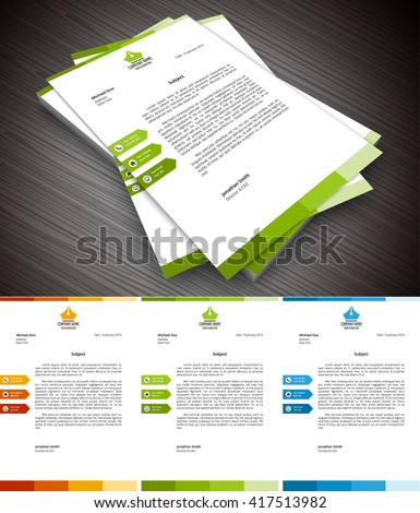 Vector illustration of creative letterhead template. - stock vector