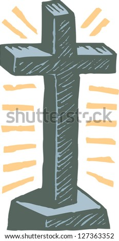 Vector illustration of Cross - stock vector