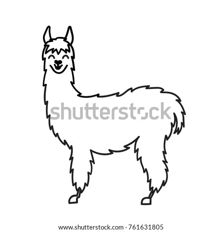 Vector Illustration Cute Character South America Stock