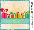 Vector illustration of cute, hand drawn style Christmas gift boxes - stock photo