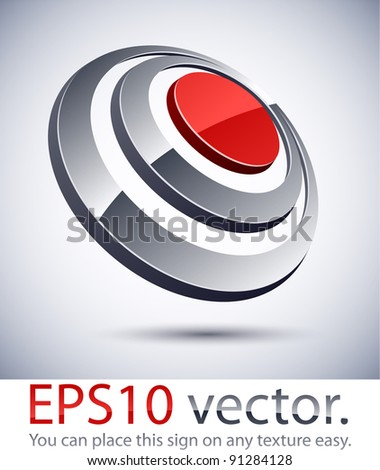 Vector illustration of 3D abstract business symbol. - stock vector