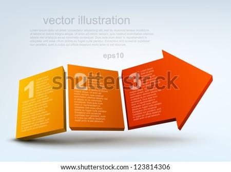 Vector illustration of 3d arrow - stock vector
