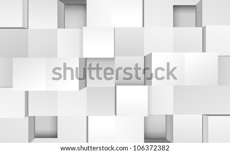 Vector illustration of 3d cubes, easy editable - stock vector