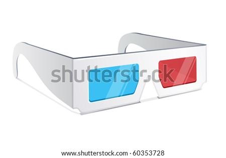 vector illustration of 3d glasses - stock vector