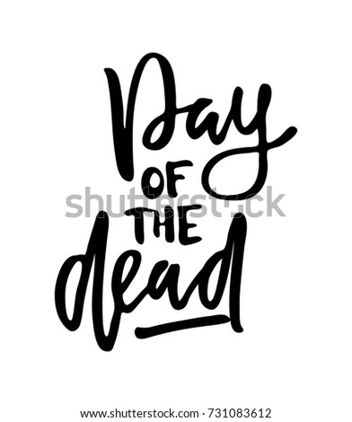 Vector Illustration Day Dead Text Party Stock Vector - Day of the dead party invitation template