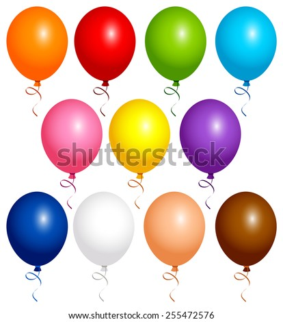 Vector illustration of decorative flying balloons.