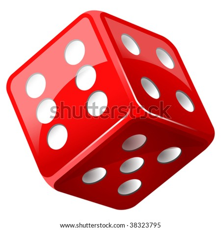 vector illustration of dice - stock vector