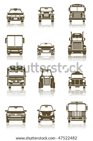 Vector illustration of different Transportation icon set - stock vector