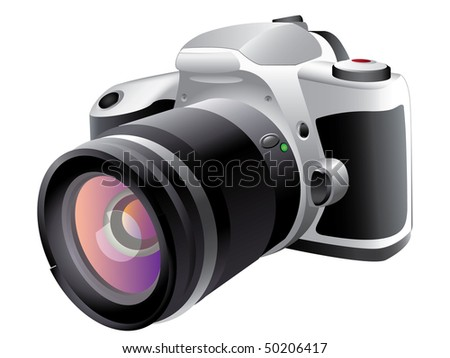 Vector illustration of digital camera