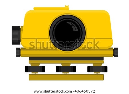 Vector illustration of digital level device - stock vector