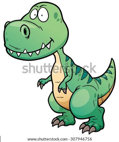 Vector illustration of Dinosaur cartoon - stock vector