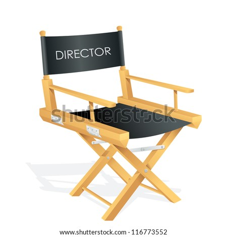vector illustration of director chair with tag