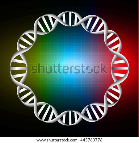 Vector illustration of dna circle strands. science, DNA Chromosome - stock vector