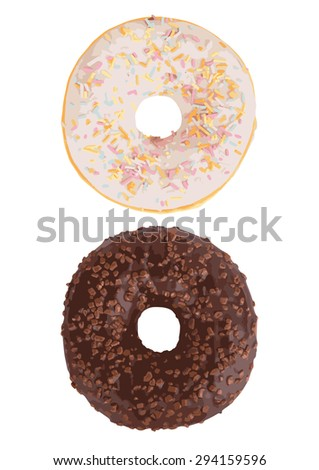 Vector illustration of Donuts set isolated on white background