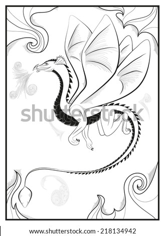 Vector illustration of dragon fire - stock vector