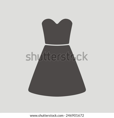 Vector illustration of dress icon - stock vector