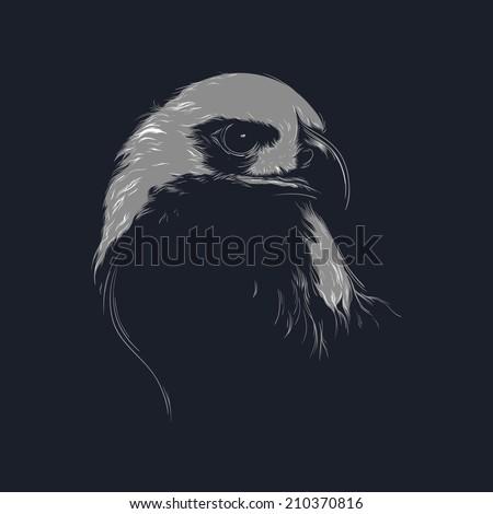 vector illustration of eagle - stock vector